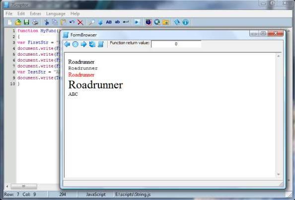 JScriptor
